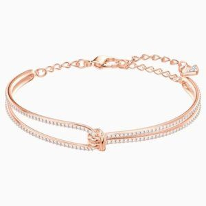 Swarovski Lifelong Bangle, Rose-gold